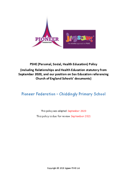 PSHE/RSHE Policy