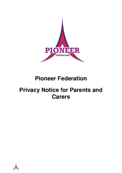Privacy Notice – Parents & Carers