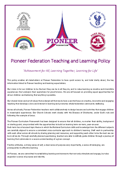 Teaching & Learning Policy