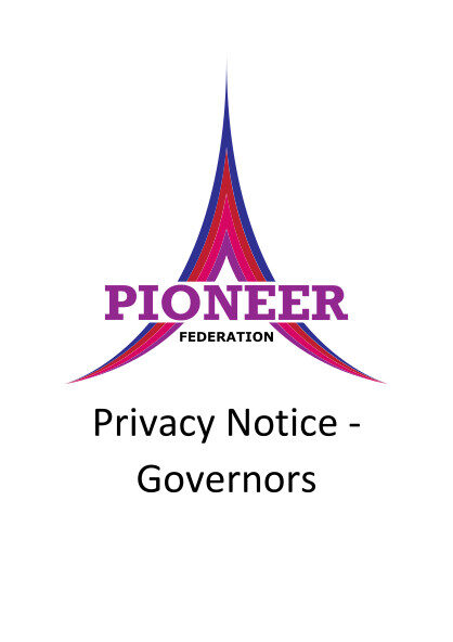 Privacy Notice – Governors