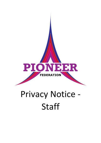 Privacy Notice – Staff