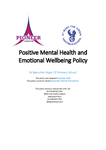 Mental Health & Wellbeing Policy