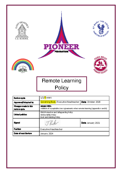 Remote Learning Policy