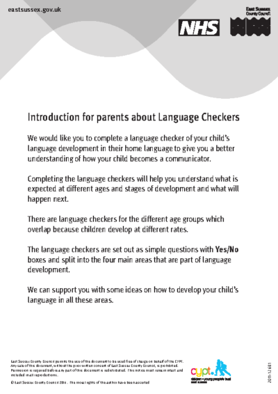 Introduction for Parents about Language Checkers