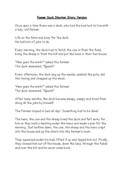 Famer Duck Shorter Story Version