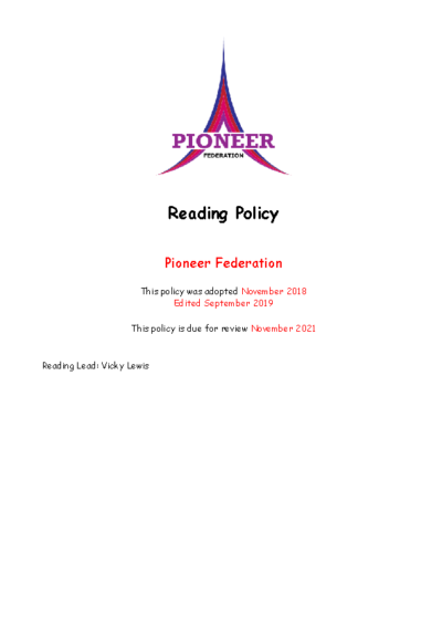English Policy (Reading)